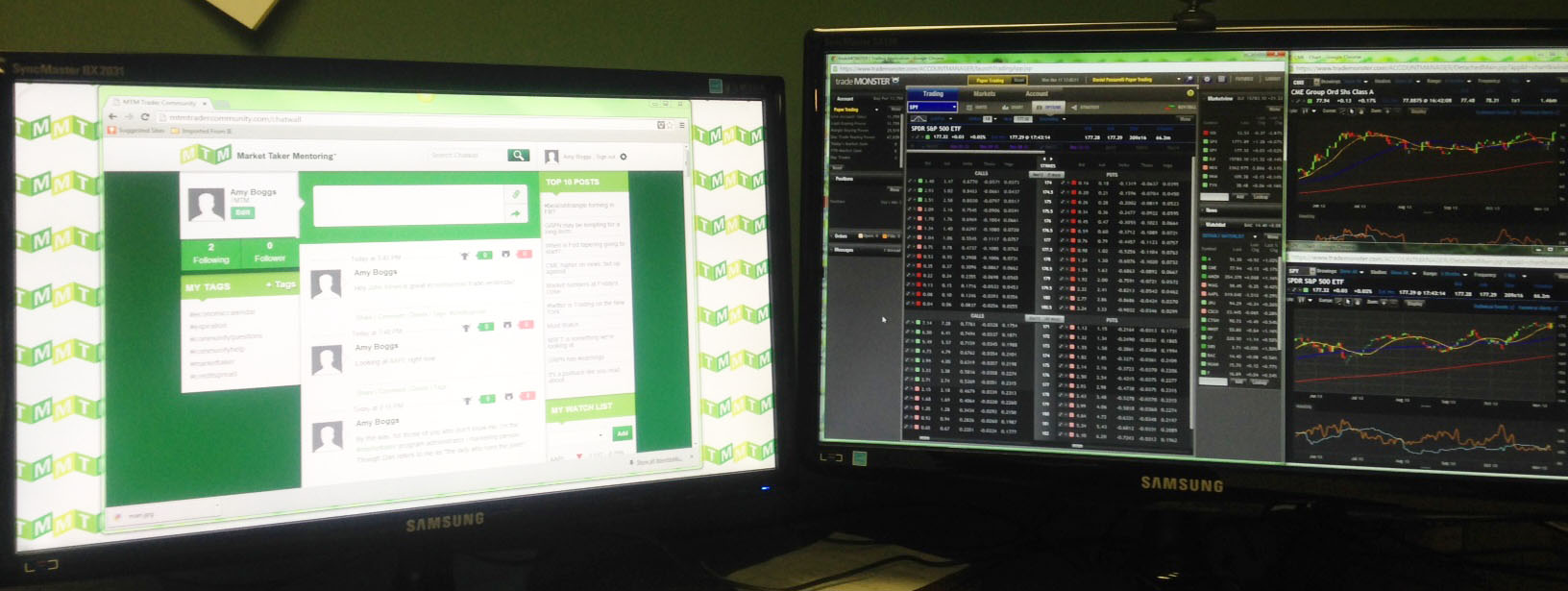 online trader community chat room